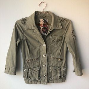 On Trend GUESS Peace and Love Military Jacket